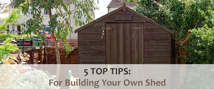 how to build a garden shed in your garage