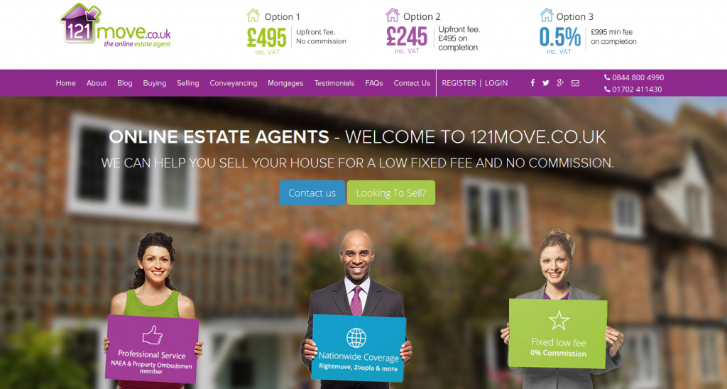 Online Estate Agents 121move.co.uk