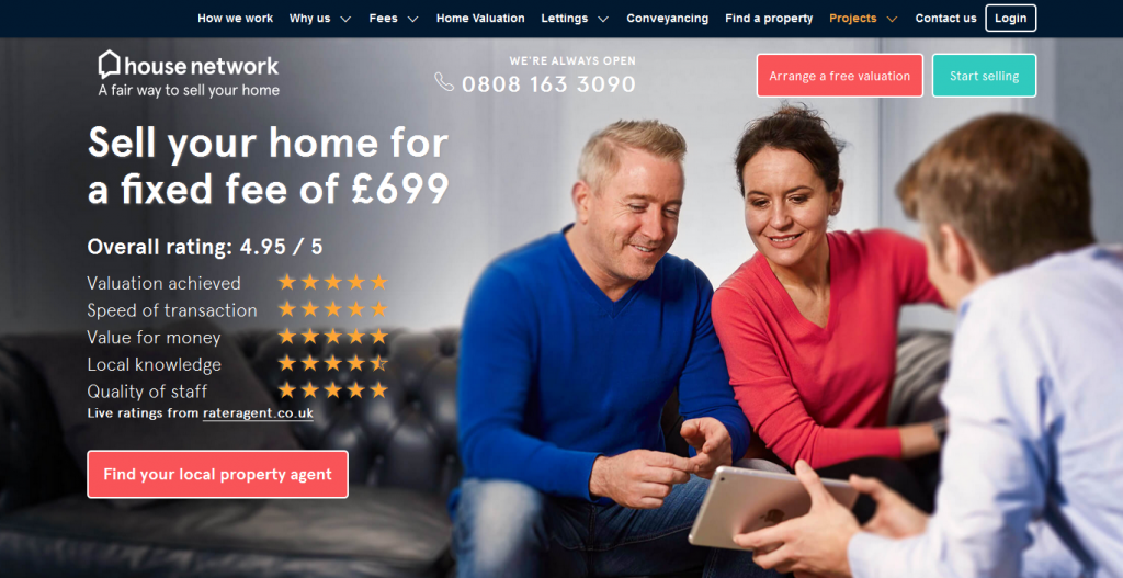 Online Estate Agents house network