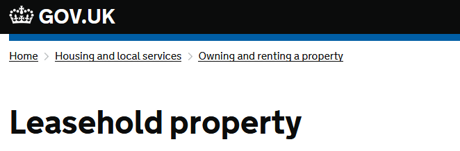 Leasehold Property - Gov.uk